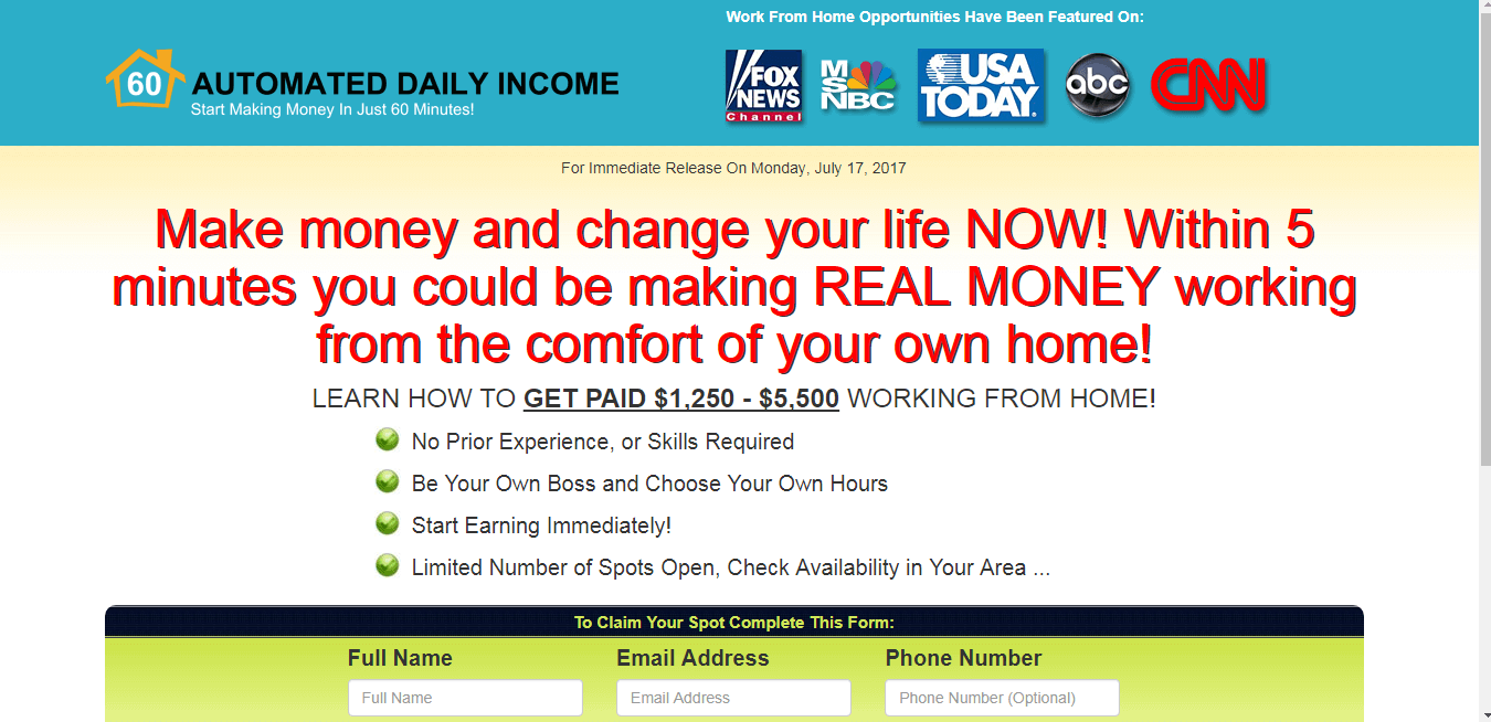 Automated Daily Income Review Is It Legit Or A Scam Home