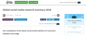 Social media research for 2018