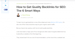 quality backlinks for SEO
