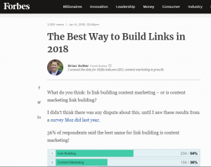 how to build links in 2018