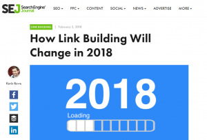 Link building changes in 2018