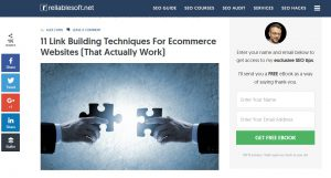 Link building for ecommerce websites