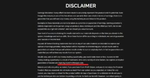 Wrong disclaimer page